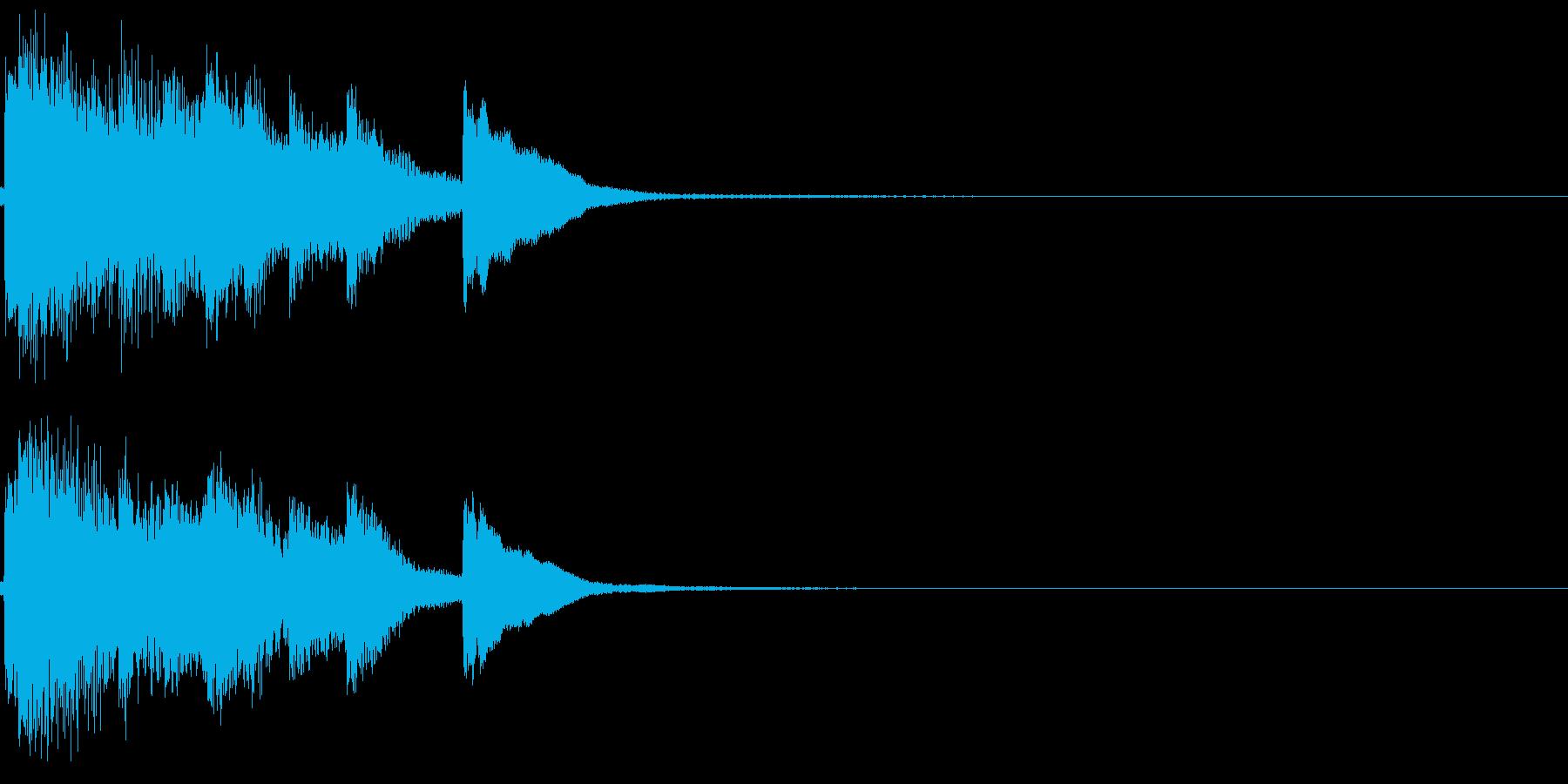 和風 箏(琴)上がっていく音3の再生済みの波形