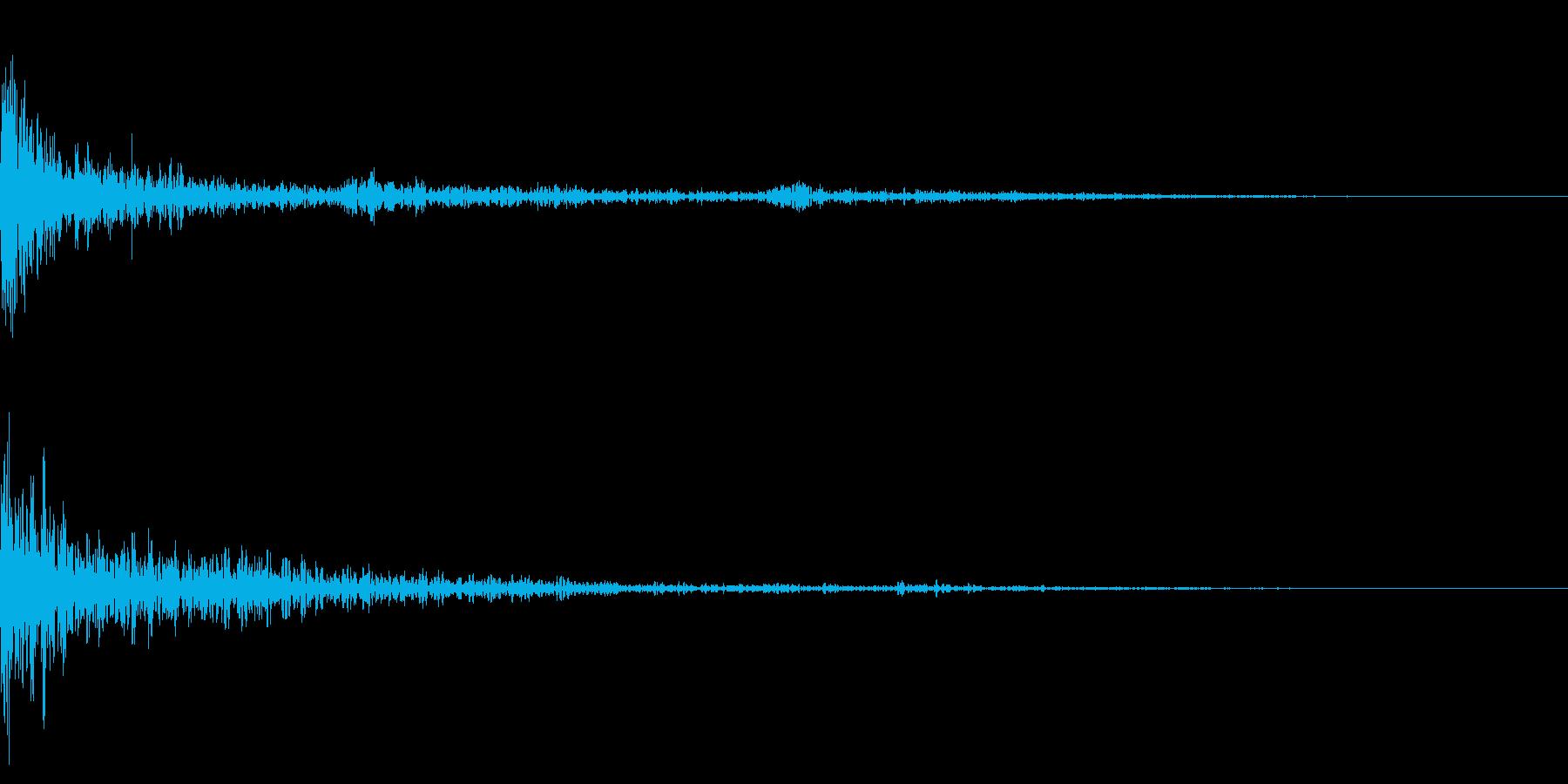 ホラー系アタック音35の再生済みの波形