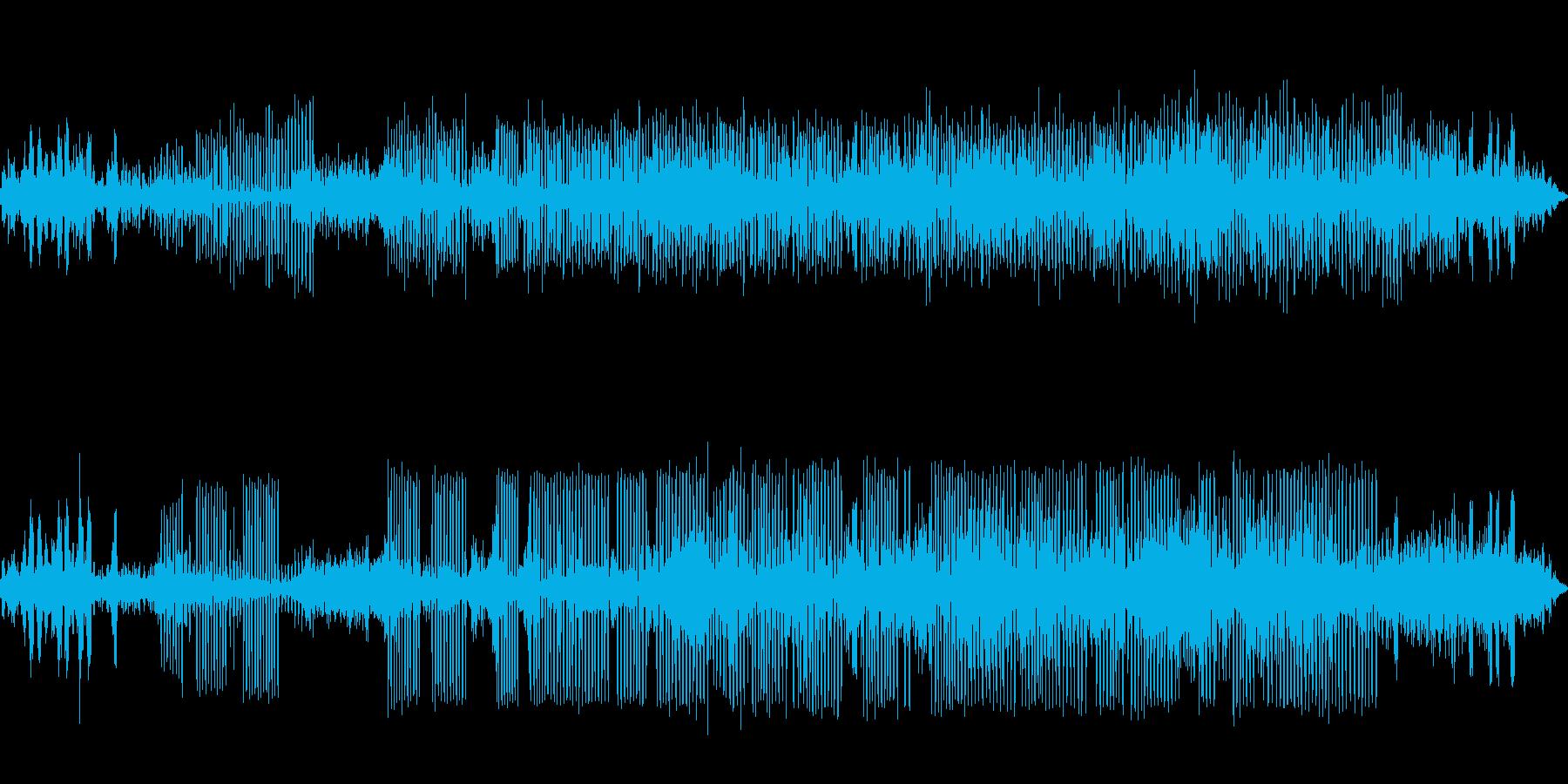カエルの鳴き声-2の再生済みの波形