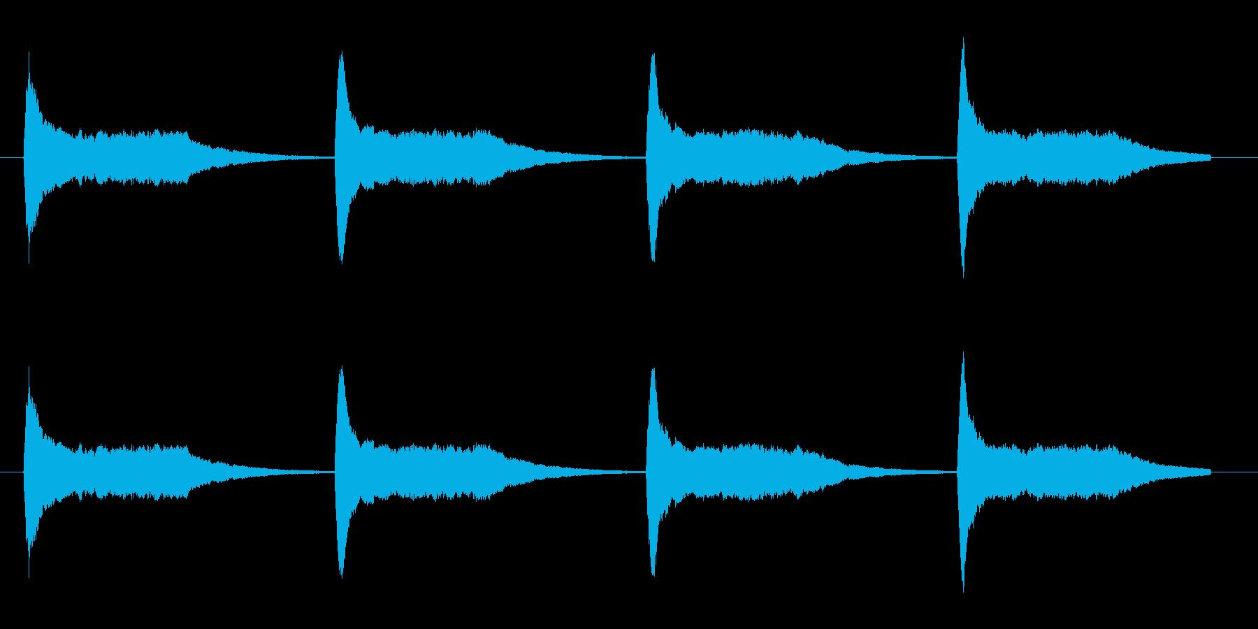 ゲーム系、ロボットのサイレン音。の再生済みの波形