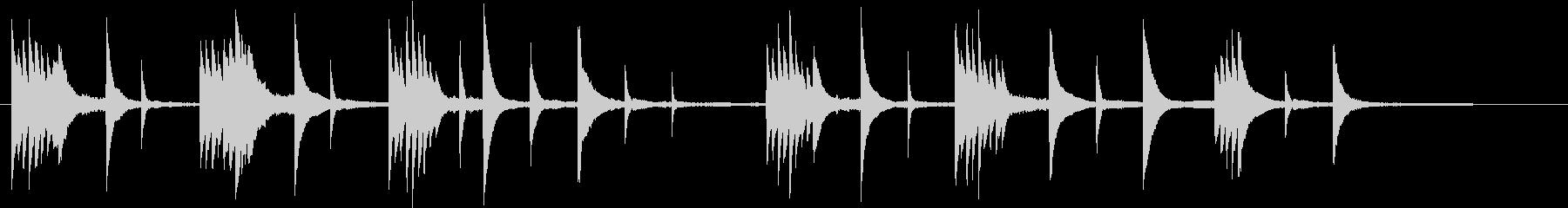 春のイメージのピアノ03の未再生の波形