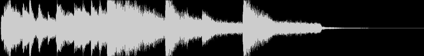 ピアノの静かなエンディングジングルの未再生の波形