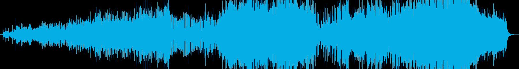 オリエンタル風ロック調のインストの再生済みの波形