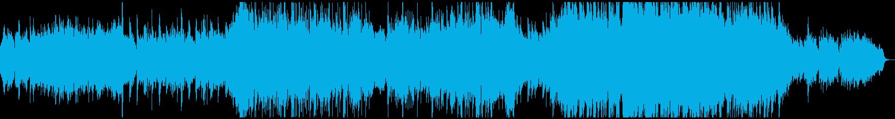 日本的で和風で侘び寂びの感じられる楽曲の再生済みの波形