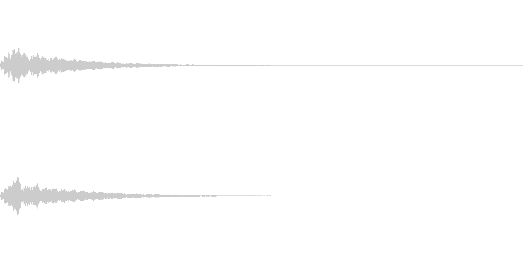 テロップの音・決定音・キャララララーンの未再生の波形