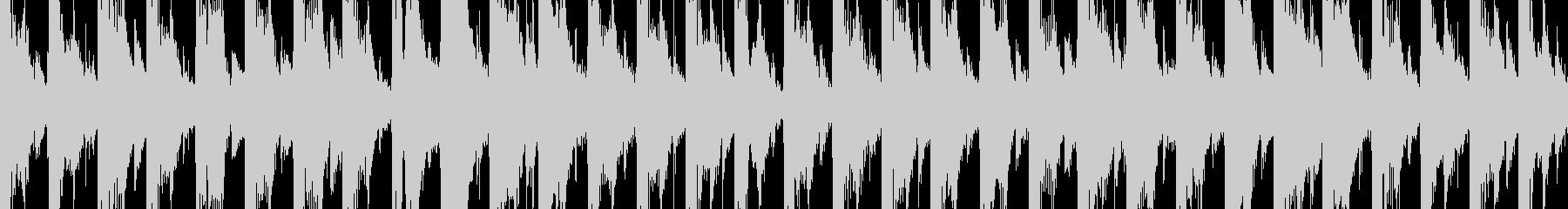 ちょっとミステリアスなエレクトロBGMの未再生の波形
