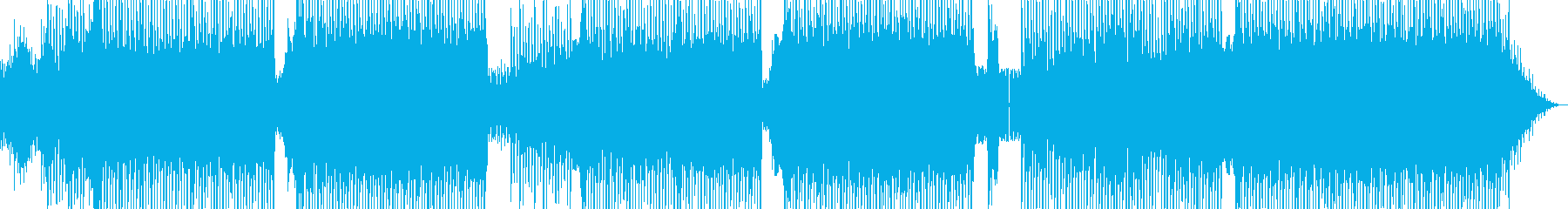 かわいらしいEDMの再生済みの波形