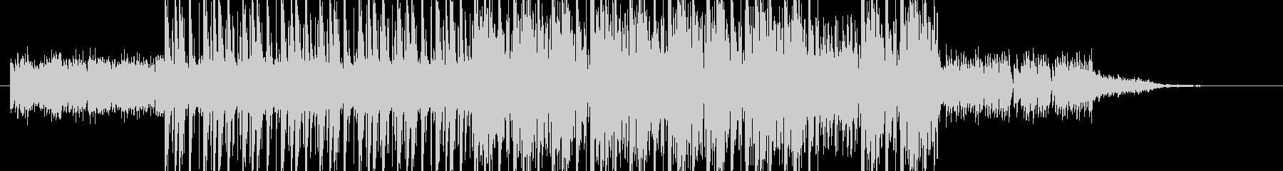 ピアノによる緊迫したイメージのジングルの未再生の波形