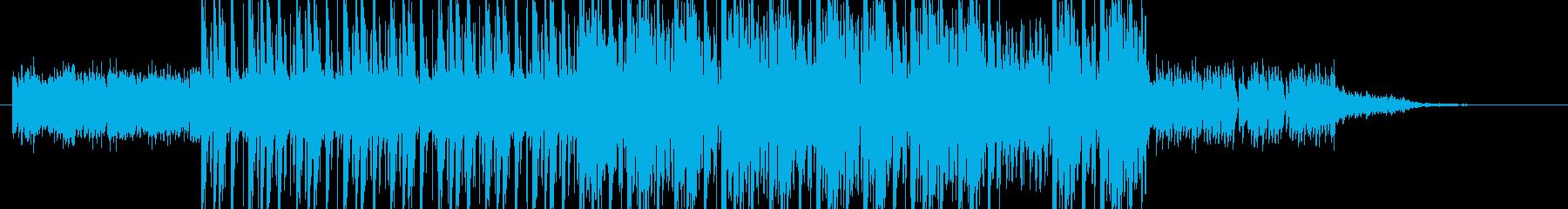 ピアノによる緊迫したイメージのジングルの再生済みの波形
