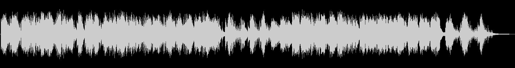 静かな物語のピアノの未再生の波形