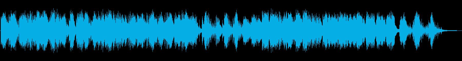 静かな物語のピアノの再生済みの波形
