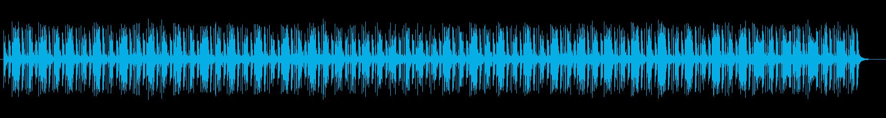 ポップで可愛いシンセサイザーの曲の再生済みの波形