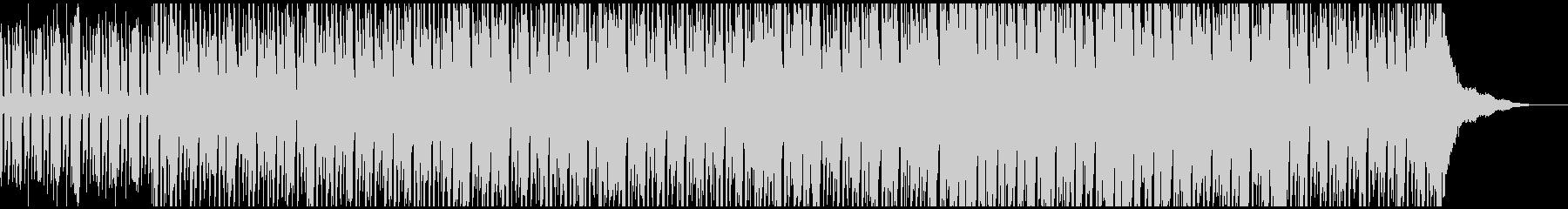 ミニマルでダークなハウスミュージックの未再生の波形