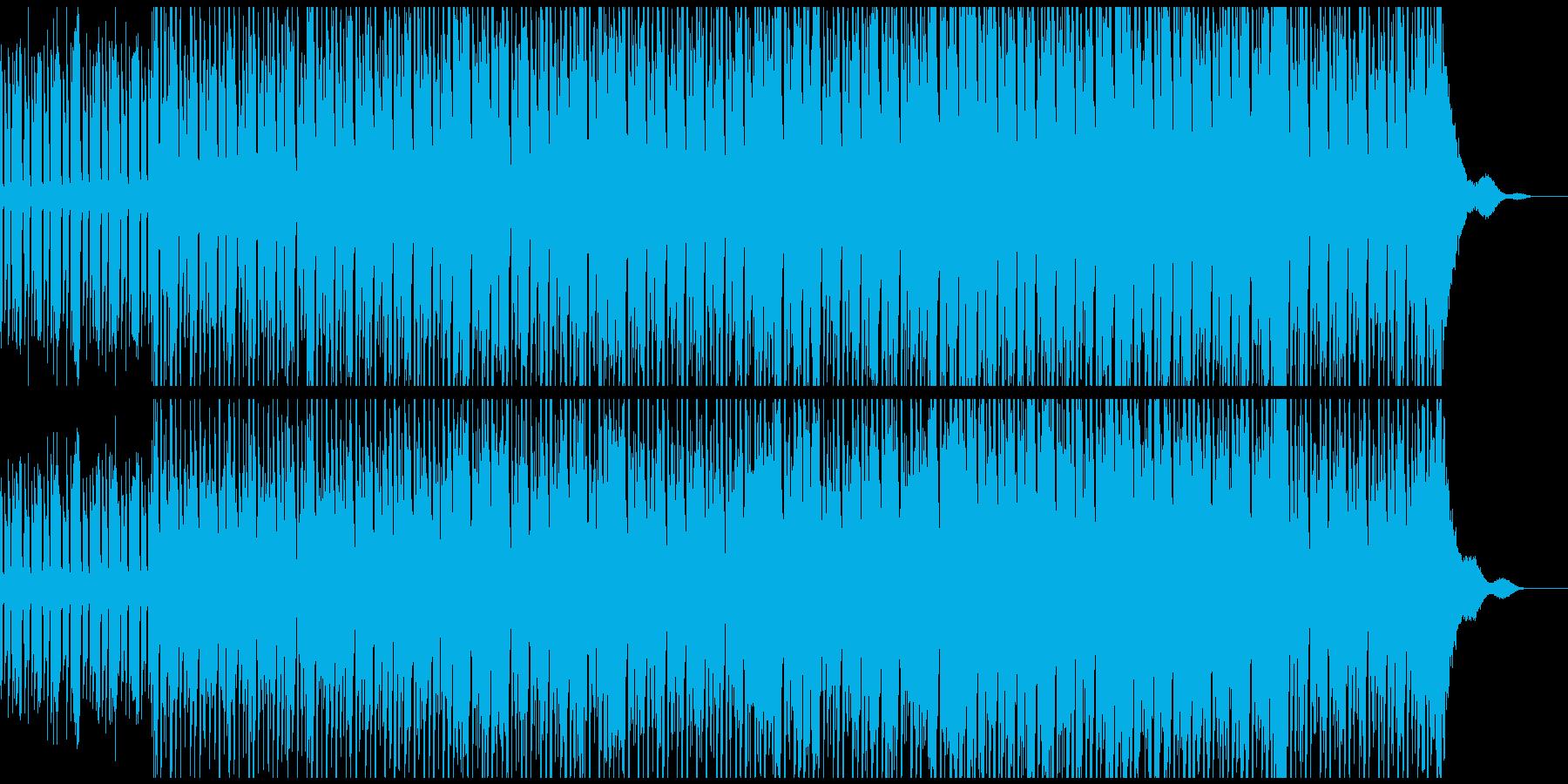 ミニマルでダークなハウスミュージックの再生済みの波形