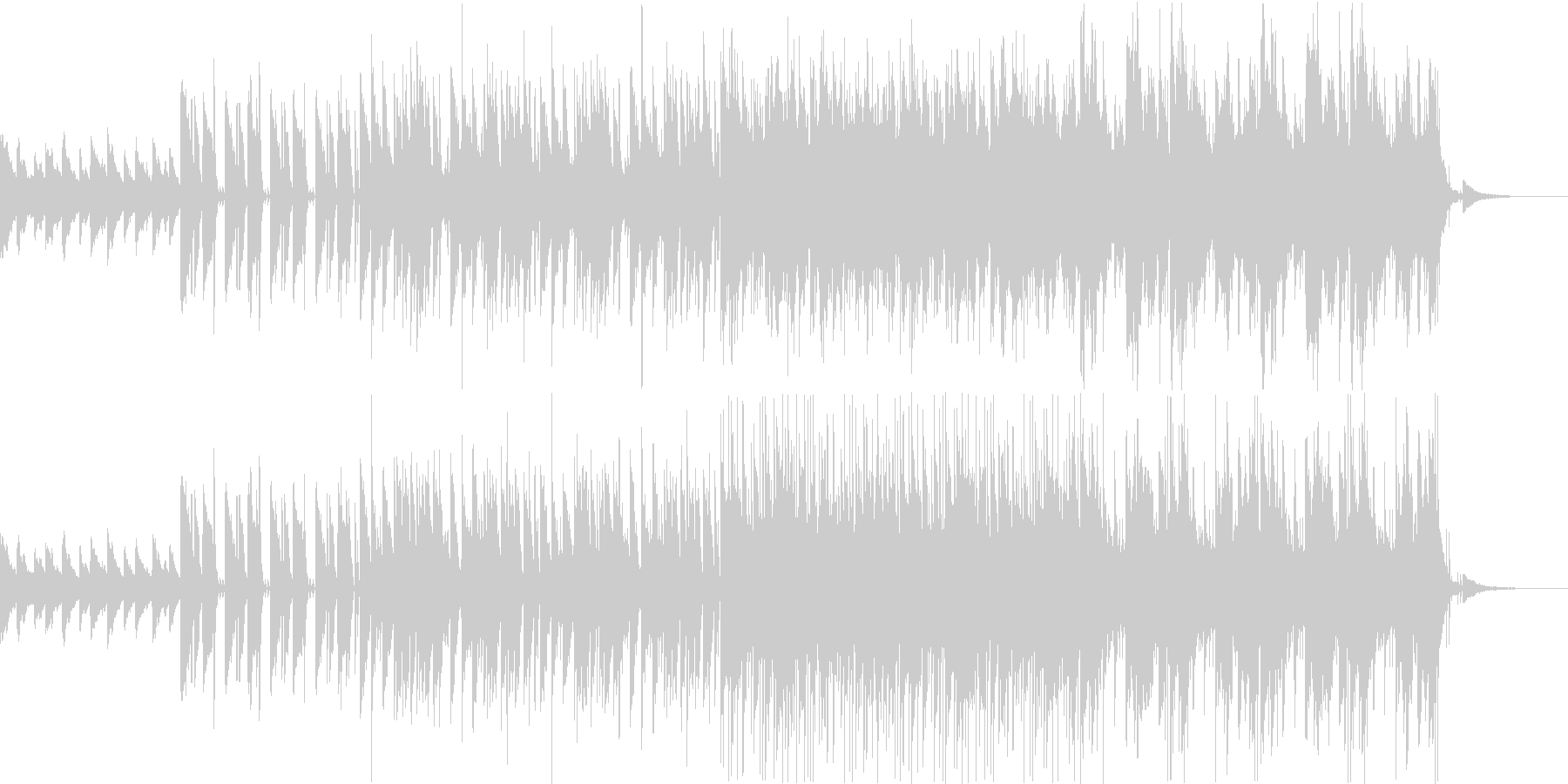 ピアノとシンセドラムの効いたBGMの未再生の波形
