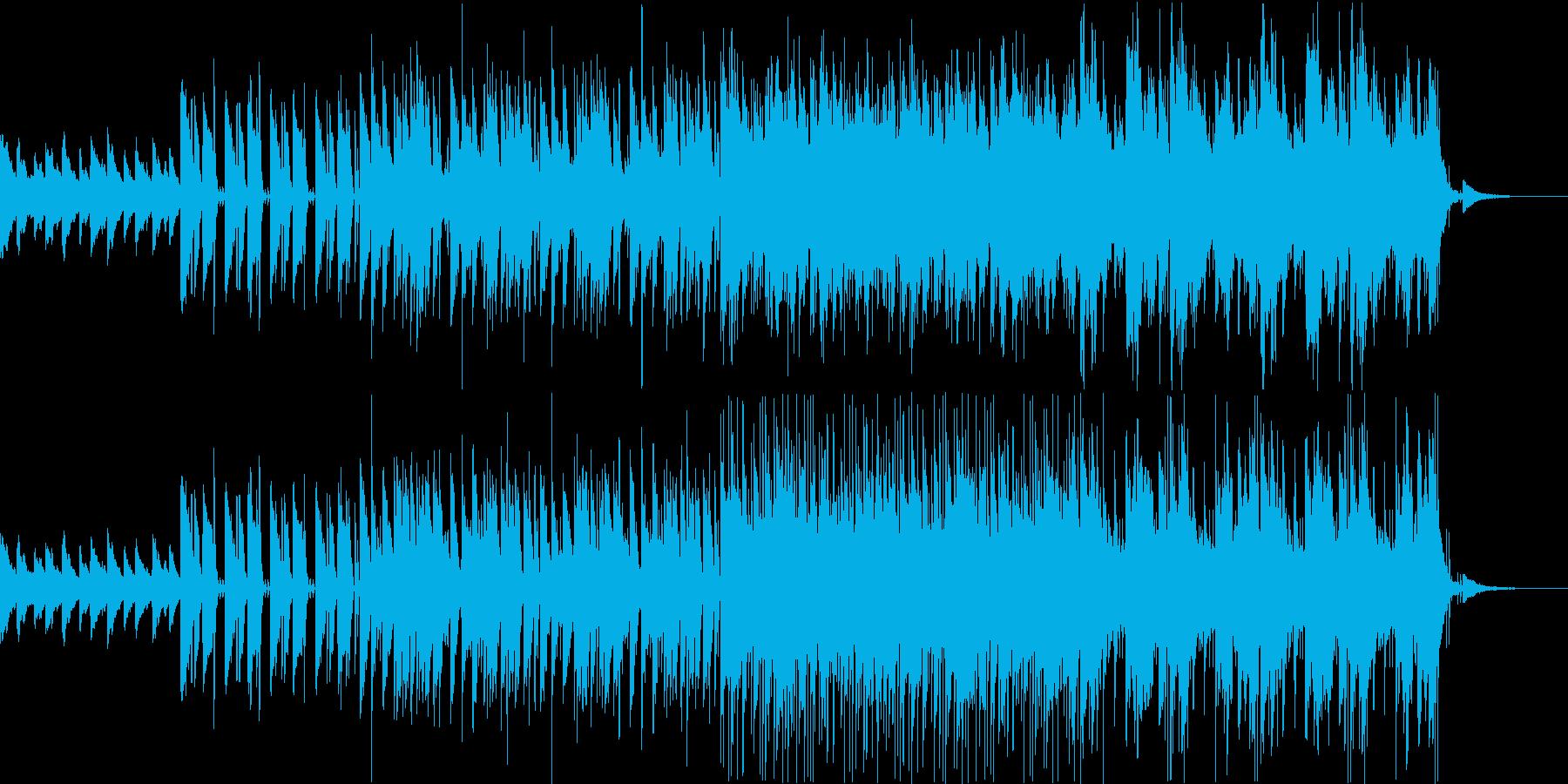 ピアノとシンセドラムの効いたBGMの再生済みの波形