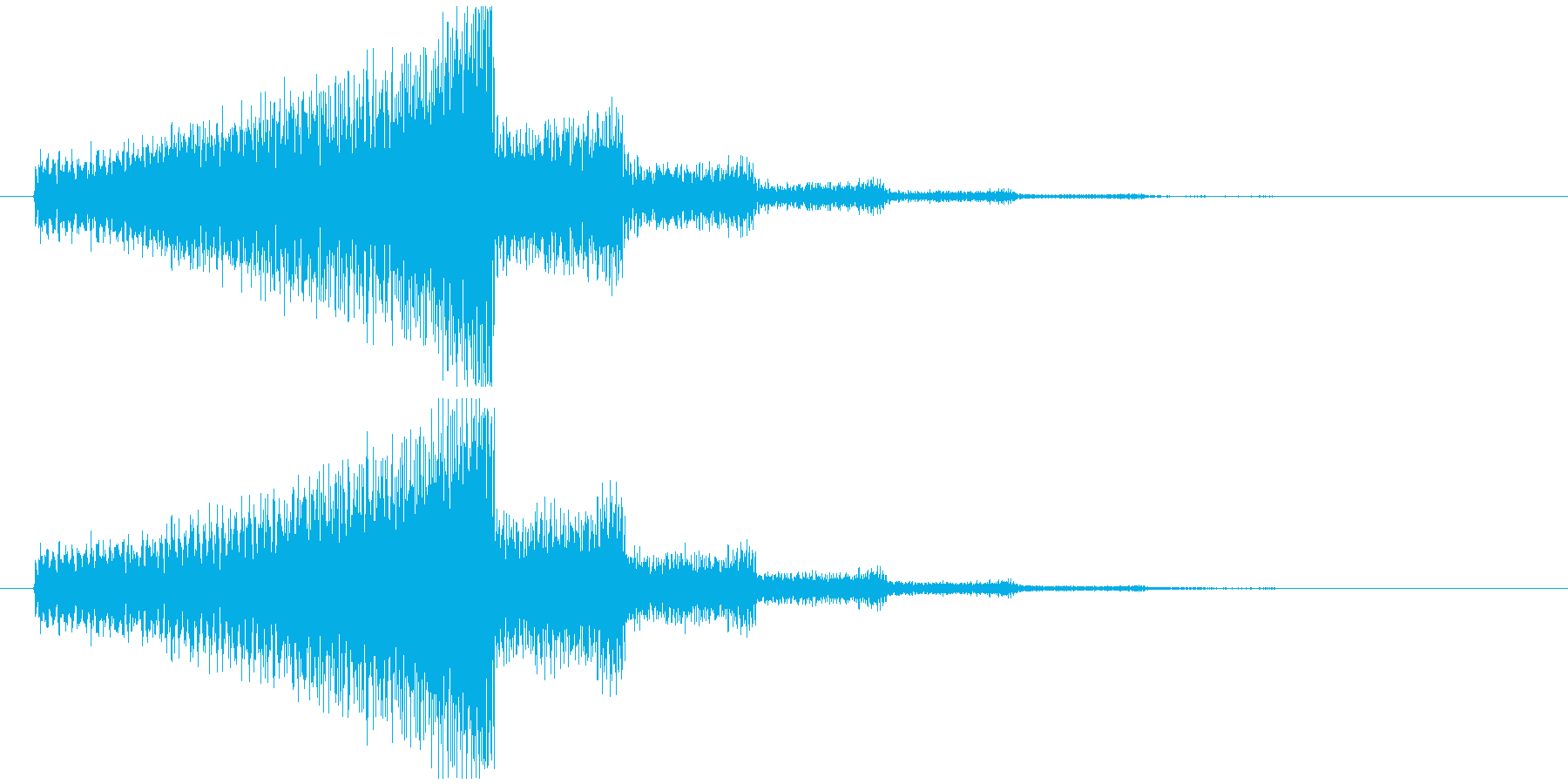 エレキギター(シリアス効果音)の再生済みの波形