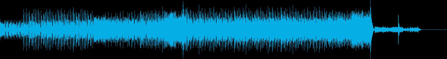 ミステリアスなEDMロックの再生済みの波形