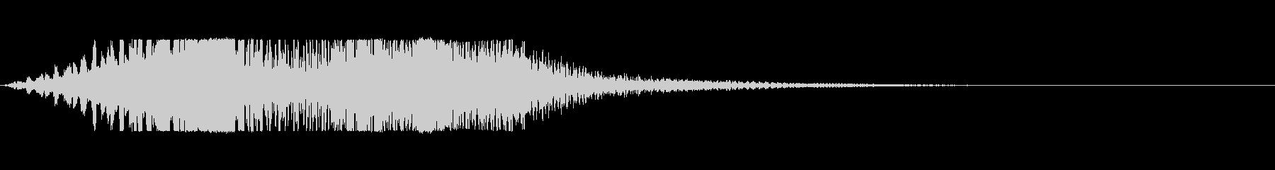 「ブーウン」という低音のシリアスな電子音の未再生の波形