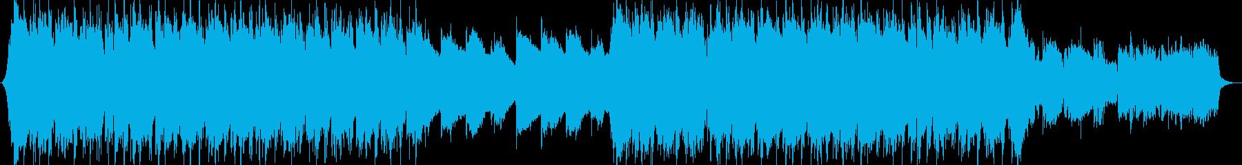 和風 笛の落ち着いた静かなバラードの再生済みの波形