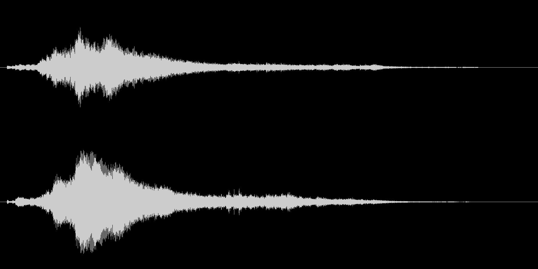 キラーン(キラキラした雰囲気)の未再生の波形