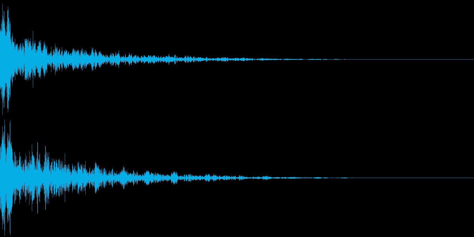 ドーン-20-2(インパクト音)の再生済みの波形