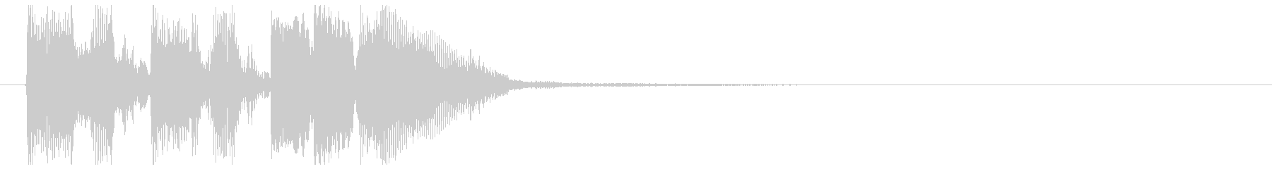 クリーンギターによるリズムカッティングの未再生の波形