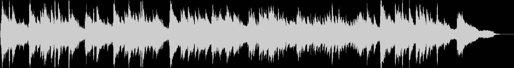 約1分。幻想的な雰囲気のピアノ楽曲の未再生の波形