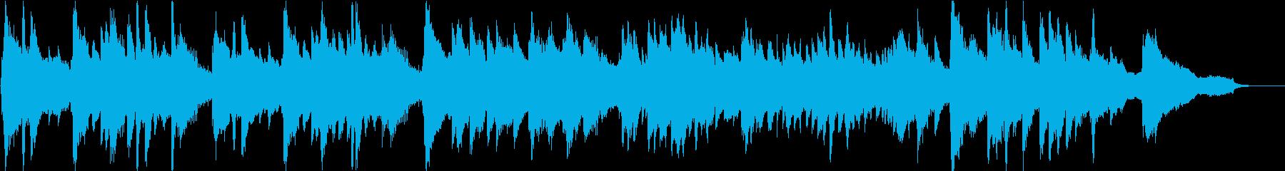 約1分。幻想的な雰囲気のピアノ楽曲の再生済みの波形