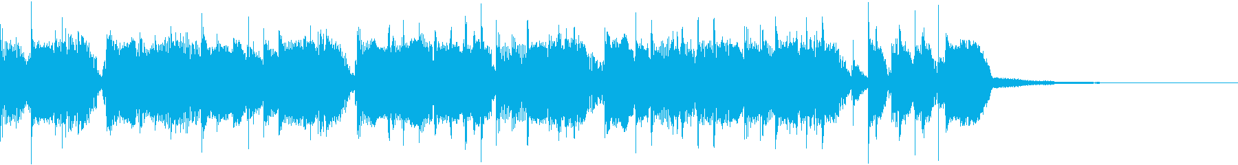 ルーズでワイルド、ロックなジングルの再生済みの波形