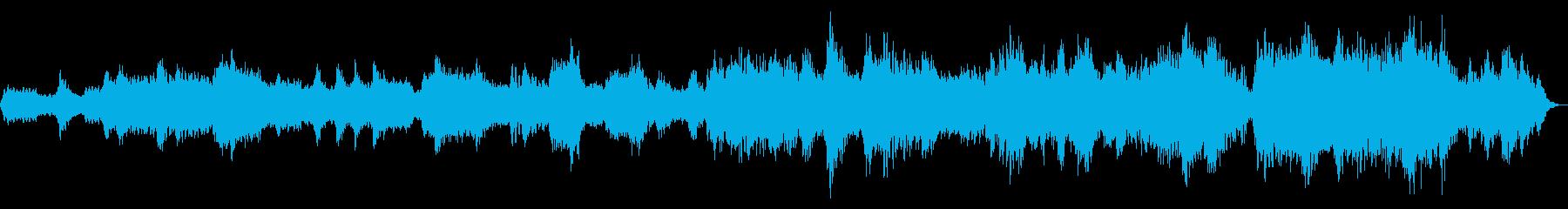 神秘的な響きのヒーリングミュージックの再生済みの波形