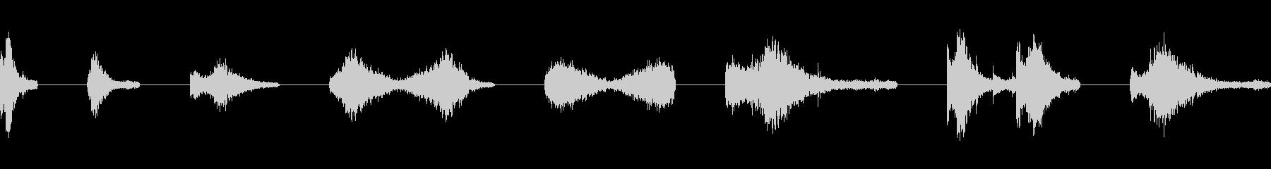 スモールメタルドア:スライドオープ...の未再生の波形