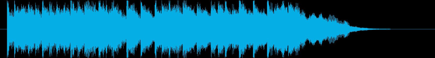 発車メロディー風な和風ジングル(ベル)の再生済みの波形