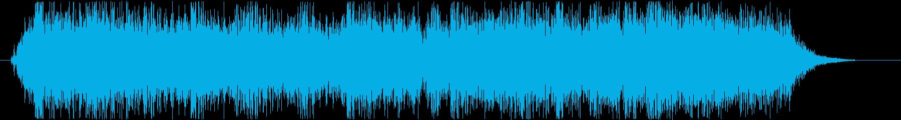 ロックバンドショートジングル003の再生済みの波形