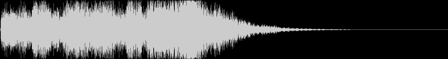 軽快なマリンバと木管のサウンドロゴの未再生の波形