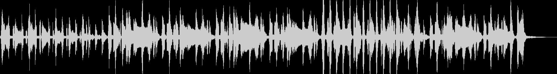 レタスをテーマにした楽曲の未再生の波形