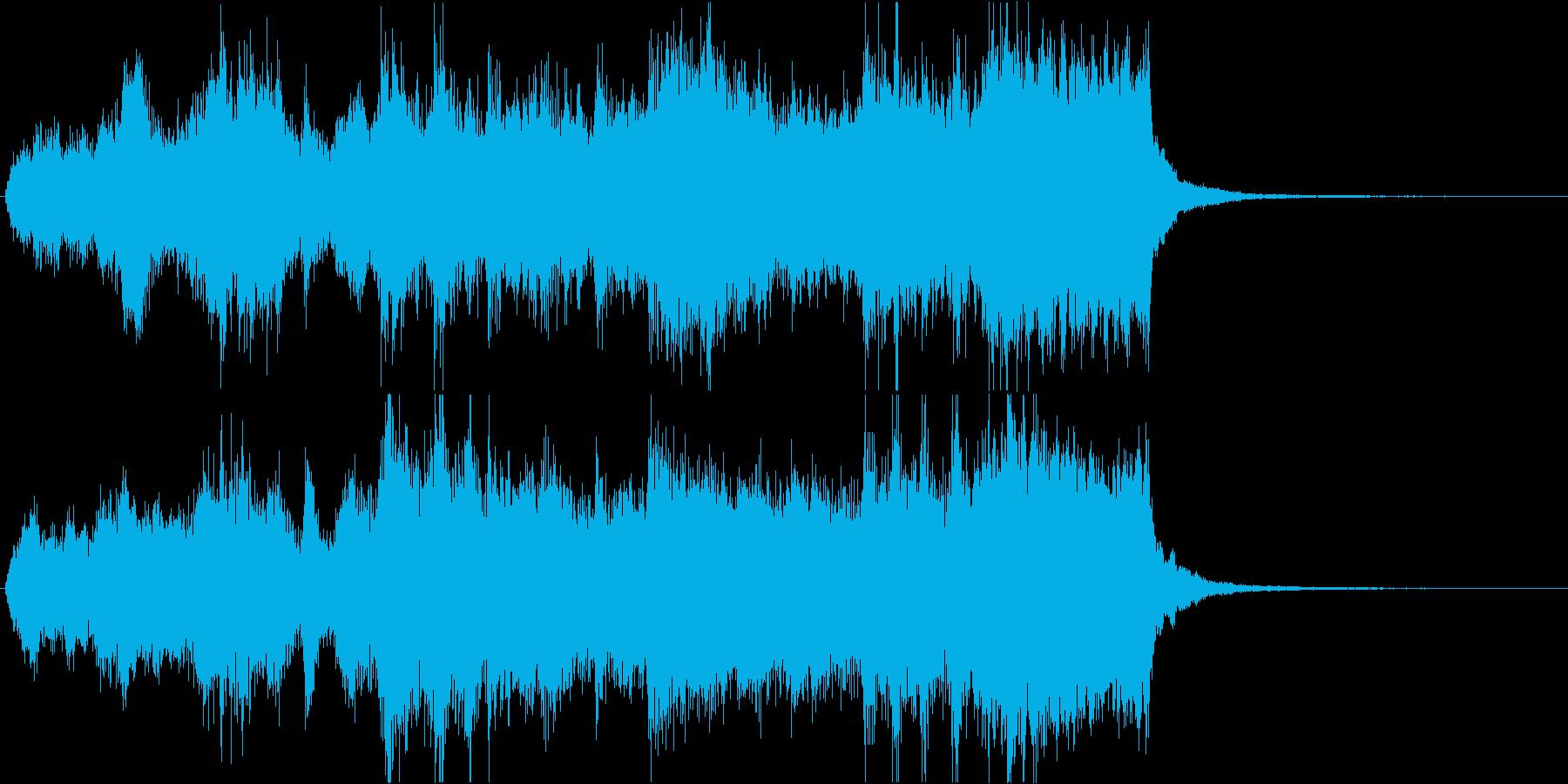 映画・トレーラーオープニング風ジングルの再生済みの波形