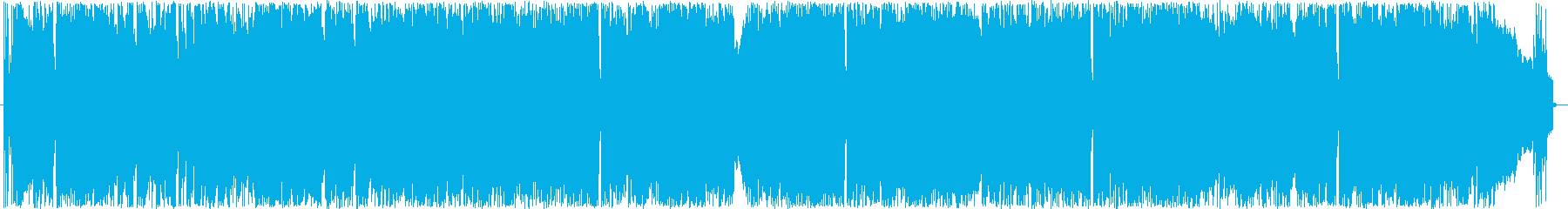 ブラス楽器がメインのバンドサウンドの再生済みの波形