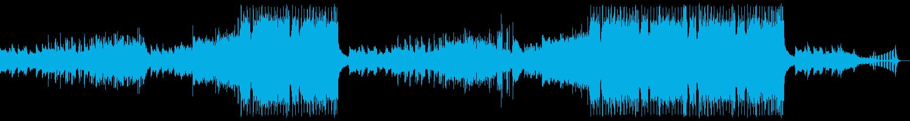 ノスタルジックなエレクトロミュージックの再生済みの波形