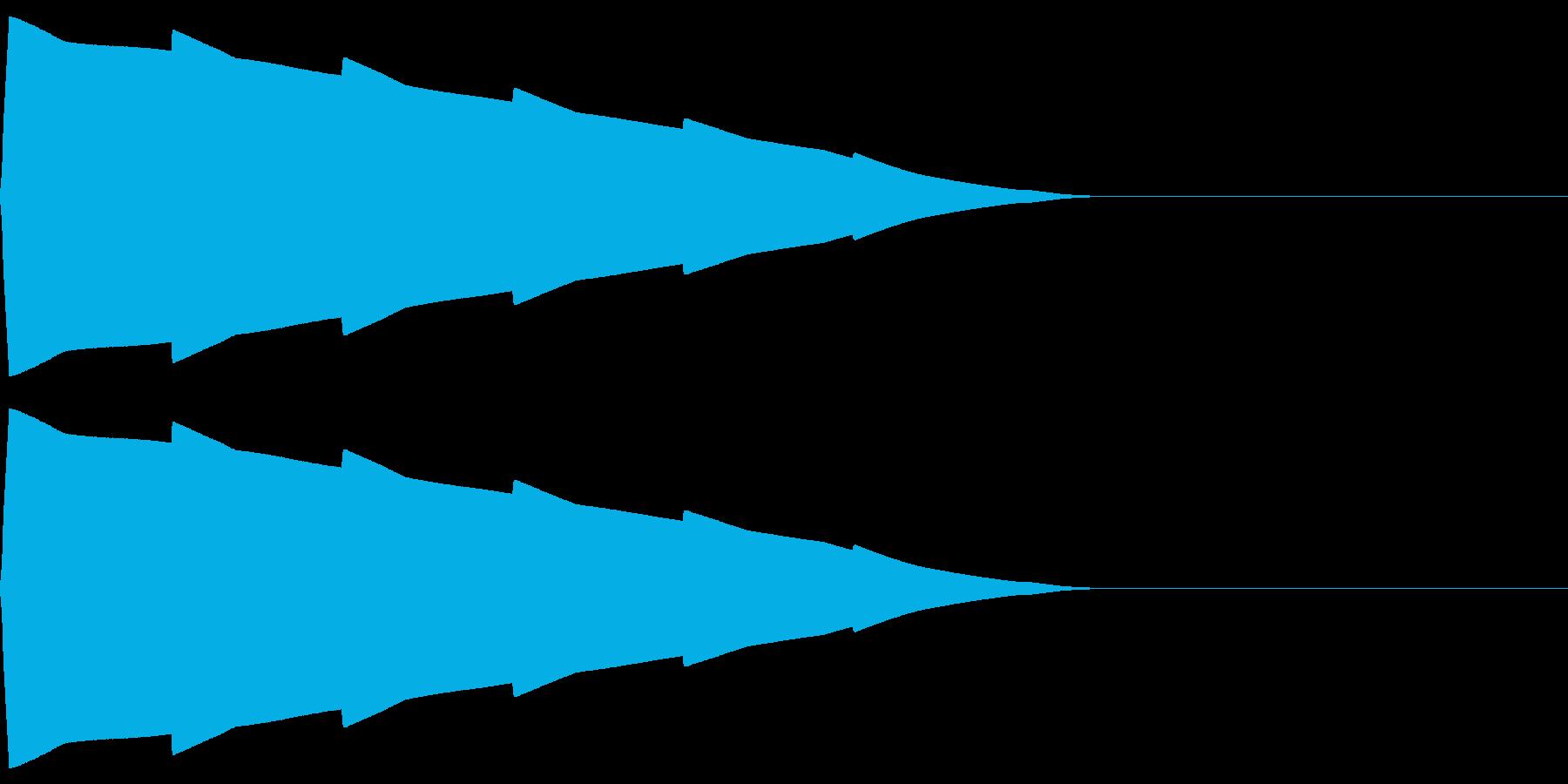 ポーンポーン(エラー宇宙/ファミコンSFの再生済みの波形