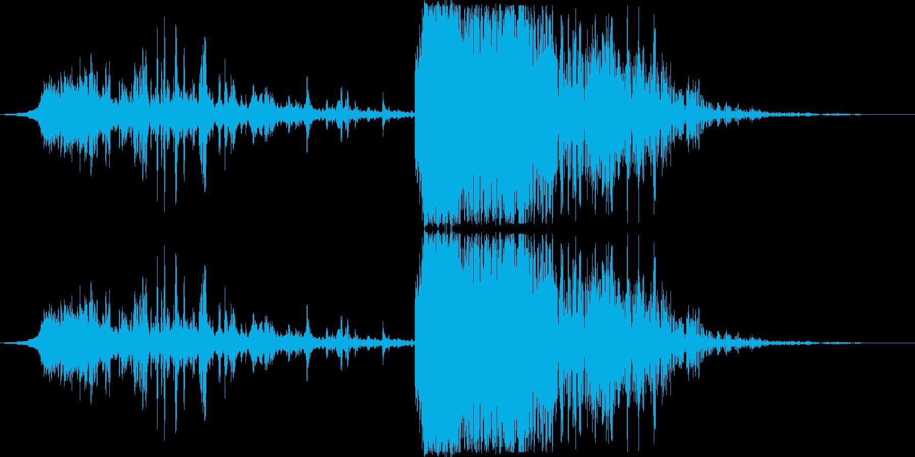 発射〜着弾のイメージ(ヒューン〜ドン)の再生済みの波形