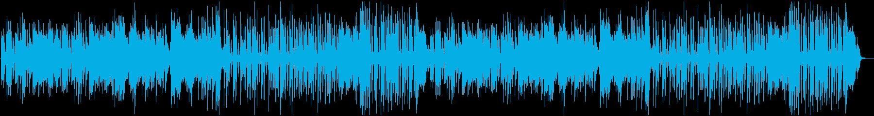 おしゃれなピアノワルツの再生済みの波形