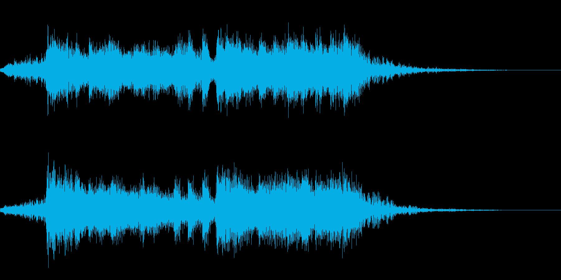ファンファーレ・オーケストラ・豪華・6秒の再生済みの波形