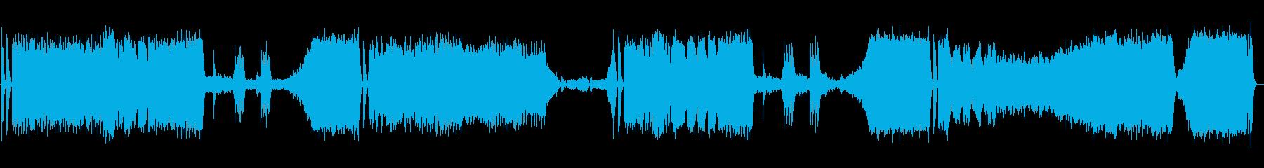 美しく勢いのあるシンセサイザーサウンドの再生済みの波形
