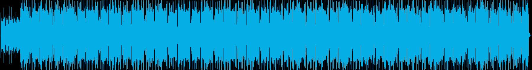 灼熱のロックの再生済みの波形