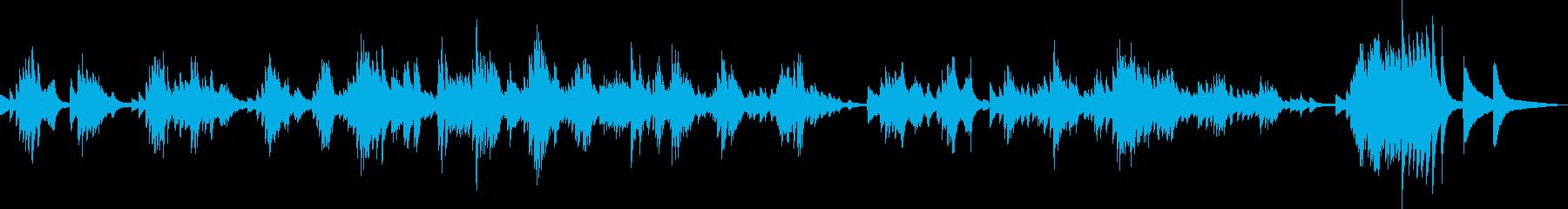 悲劇的なピアノソロの再生済みの波形