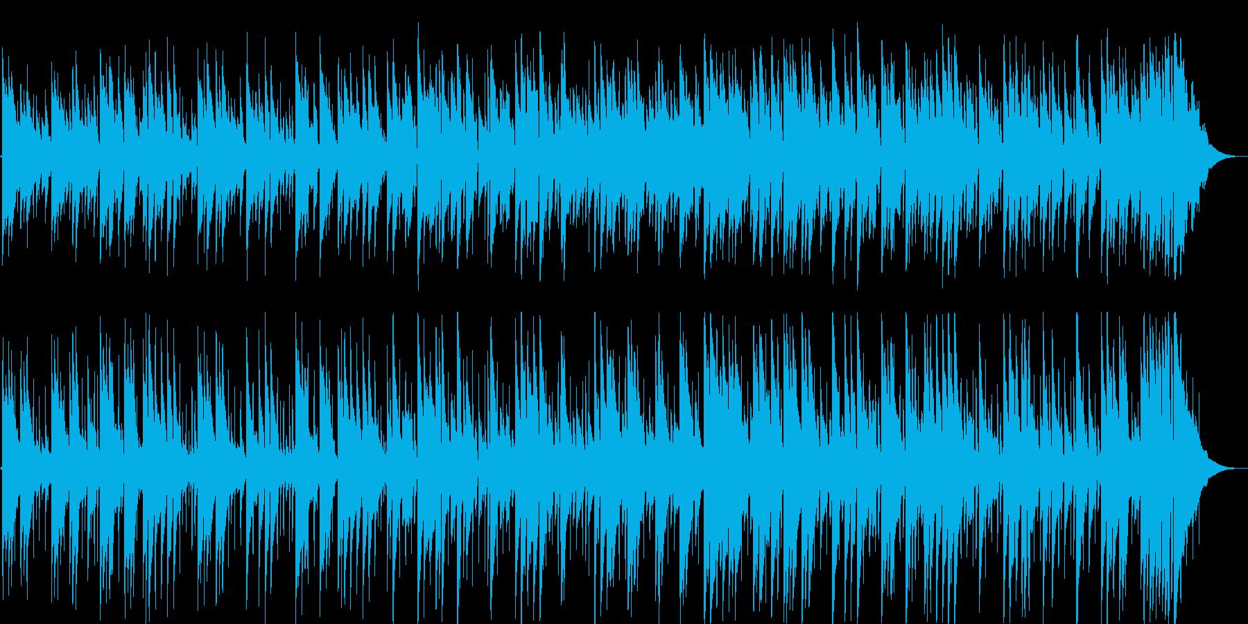 メランコリックな落ち着きのあるギター音の再生済みの波形