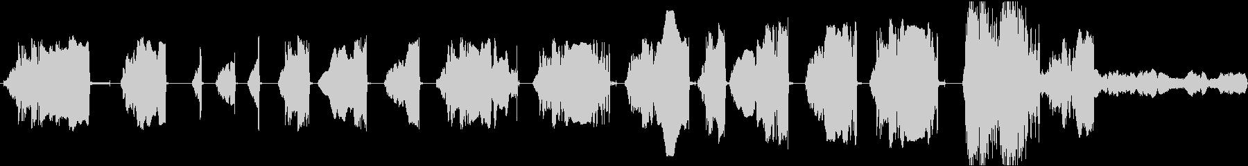 低空間摩擦音調の音、ゆっくりとした...の未再生の波形