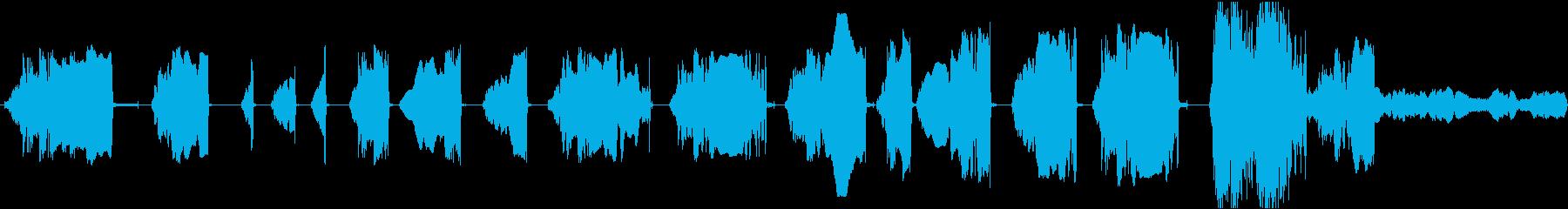 低空間摩擦音調の音、ゆっくりとした...の再生済みの波形