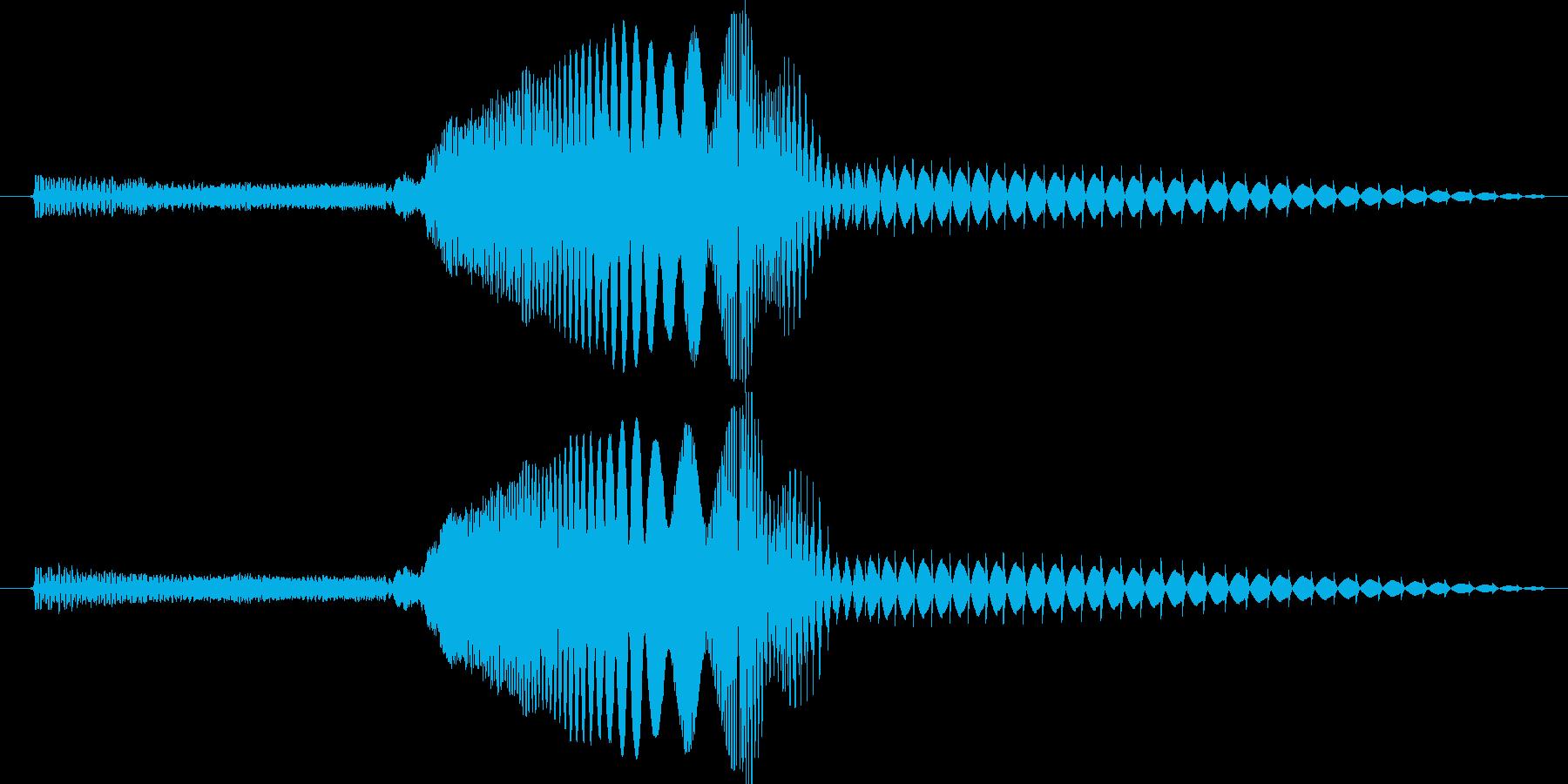 迫って来て何かを消すような音です。の再生済みの波形